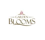 Garden Blooms Logo Concept. AI 10 supported Stock Photo