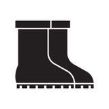 Garden Boots Icon Stock Photo