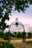 Garden of a Bordeaux Chateau Royalty Free Stock Photos