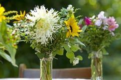 Garden bouquet with Dahlia's Stock Photos