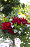 Garden bouquet with Dahlia's Royalty Free Stock Photography