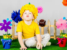 Garden Boy Stock Photography