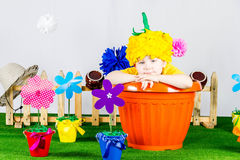 Garden Boy stock images