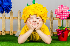 Garden Boy royalty free stock image