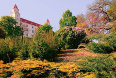 Garden Bratislava Castle - Slovakia. Summer Palace Gardens in the capital of Slovakia Royalty Free Stock Photography