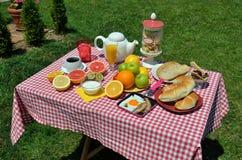 Garden breakfast Stock Photos
