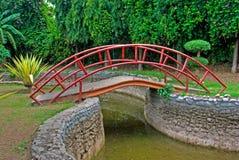Garden Bridge. In green park royalty free stock image