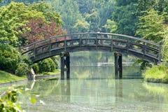 Garden bridge. Bridge in a botanical garden in summer Stock Photography