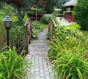 Garden bridge Royalty Free Stock Images