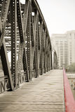 Garden bridge's walkways Royalty Free Stock Photography