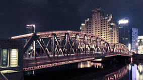 Garden Bridge of Shanghai. The Waibaidu Bridge, called the Garden Bridge in English, is the first all-steel bridge, and the only surviving example of a camelback Royalty Free Stock Images