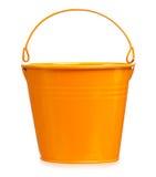 Garden bucket. Decorative bright garden bucket isolated on white background Stock Photography