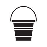 Garden Bucket Icon Stock Image