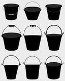 Garden buckets Stock Image