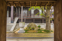 Garden in a Buddhist temple in Nagoya Stock Image