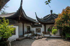 Garden Building of Yangzhou Slender West Lake. Shizuka Shofu is located in the Lake in the Lake Garden area in the hairpin Pavilion. Shizuka bookstore rebuilt in royalty free stock image
