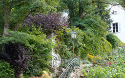 Garden in the butte Montmartre Stock Photography