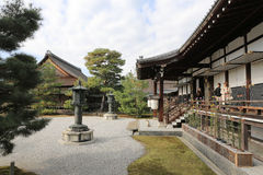 Garden of Byodo-in Temple in Kyoto, Japan Royalty Free Stock Photo