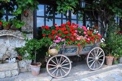 Garden in the Cart. In the city of Veliko Tarnovo in Bulgaria Royalty Free Stock Image