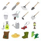 Garden cartoon icons set Stock Photography