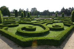 Garden of castle in Bucovice Royalty Free Stock Images