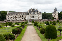 Garden and Castle of Chenonceau. Stock Images