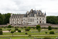 Garden and Castle of Chenonceau. Royalty Free Stock Image