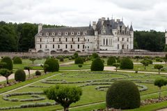 Garden and Castle of Chenonceau Stock Photography
