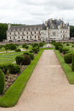 Garden and Castle of Chenonceau Stock Images