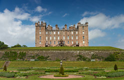 Garden and Castle of Drumlanrig Royalty Free Stock Image