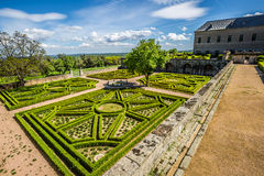 Garden in Castle Escorial at San Lorenzo near Madrid Spain Stock Photography