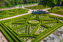 Garden in Castle Escorial at San Lorenzo near Madrid Spain Royalty Free Stock Images