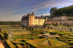 Garden and castle in france Royalty Free Stock Photography