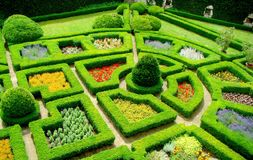 Garden in castle Pieskowa Skala, Poland Stock Photo