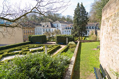 Garden of the castle in Saarbrucken Royalty Free Stock Image
