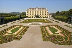 Garden with castle Schoenbrunn Stock Image