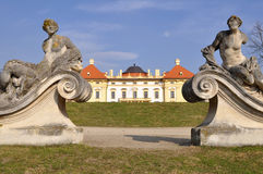 Garden of castle Slavkov-Austerlitz,Czech republic. The town and the castle is widely known for giving its name to the Battle of Austerlitz(Napoleon)which Royalty Free Stock Photo
