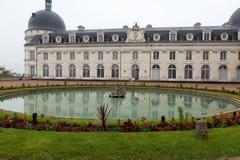 Garden and Castle of Valencay Stock Photo