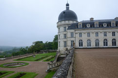 Garden and Castle of Valencay Stock Image