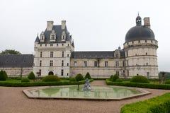 Garden and Castle of Valencay in Loire Valley Stock Photos
