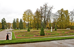 Garden of Catherine Palace in St. Petersburg Royalty Free Stock Photos