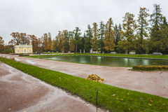 Garden of the Catherine palace in St. Petersburg Royalty Free Stock Photo