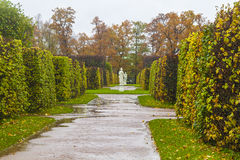 Garden of the Catherine palace in St. Petersburg Royalty Free Stock Photos
