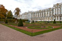 Garden in catherine's palace Royalty Free Stock Photo