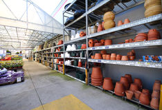 At the Garden Center. Section of a home improvement store stock image