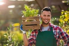 Garden Center Employee Stock Photo