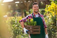 Garden Center Employee Royalty Free Stock Photos