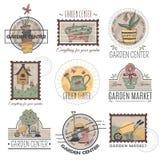 Garden center logo set Royalty Free Stock Photo