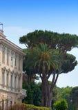 Garden in center Rome Royalty Free Stock Photography
