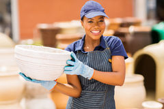 Garden center worker Royalty Free Stock Image